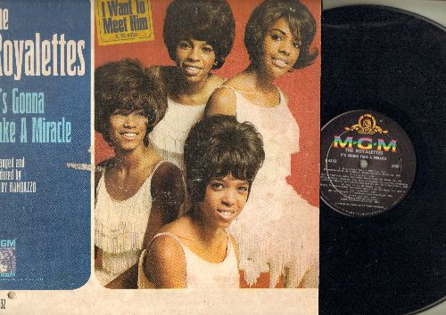 Royalettes - It's Gonna Take A Miracle: I Want To Meet Him, Out Of Sight Out Of Mind (vinyl MONO LP record, bb lower left of cover) - NM9/VG7 - LP Records