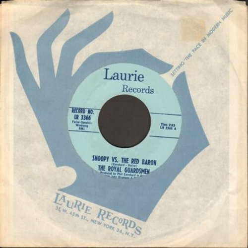 Royal Guardsmen - Snoopy vs. The Red Baron/I Needed You (blue label--first pressing with RARE Laurie company sleeve) - M10/ - 45 rpm Records