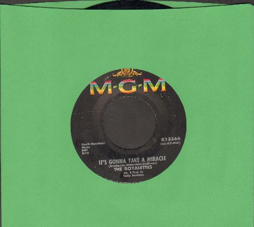 Royalettes - It's Gonna Take A Miracle/Out Of Sight, Out Of Mind - EX8/ - 45 rpm Records