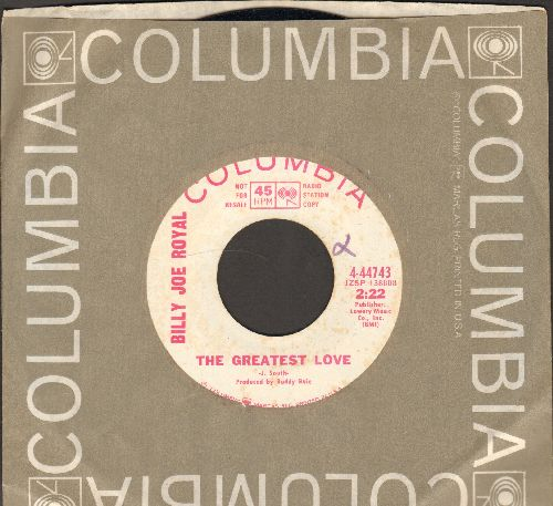 Royal, Billy Joe - Bed Of Roses/The Greatest Love (DJ advance pressing with Columbia company sleeve) - NM9/ - 45 rpm Records