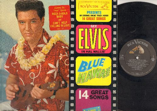 Presley, Elvis - Blue Hawaii - Original Motion Pictue Soundtrack: Can't Help Falling In Love, Moonlight Swim, Aloha Oe, Rock-A-Hula Baby (vinyl MONO LP record) - EX8/VG7 - LP Records