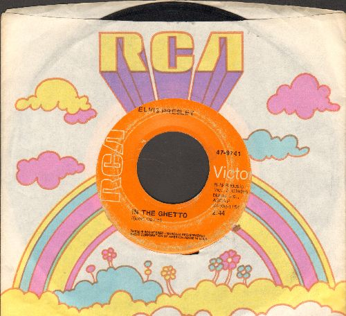 Presley, Elvis - In The Ghetto/Any Day Now (with RCA company sleeve) - VG7/ - 45 rpm Records