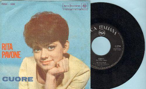 Pavone, Rita - Cuore/Il Ballo De Mattone (Italian Pressing with picture sleeve, sung in Italian)(wos) - EX8/EX8 - 45 rpm Records