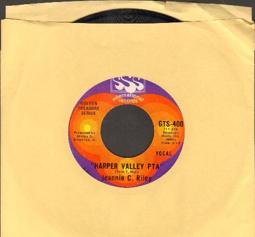 Riley, Jeannie C. - Harper Valley P.T.A. (Juke Box Favorite!)/The Girl Most Likely (double-hit re-issue) - NM9/ - 45 rpm Records