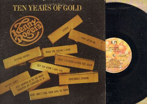 Rogers, Kenny - Ten Years Of Gold: Ruby Don't Take Your Love To Town, Just Dropped In, Lucille, Something's Burning (vinyl LP record) - NM9/EX8 - LP Records