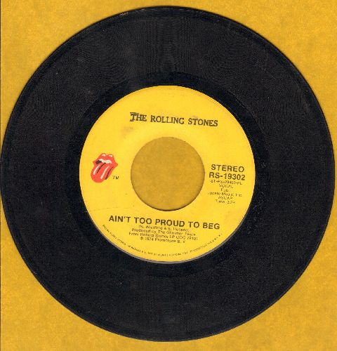 Rolling Stones - Ain't Too Proud To Beg/Dance Little Sister (minor wol) - VG7/ - 45 rpm Records