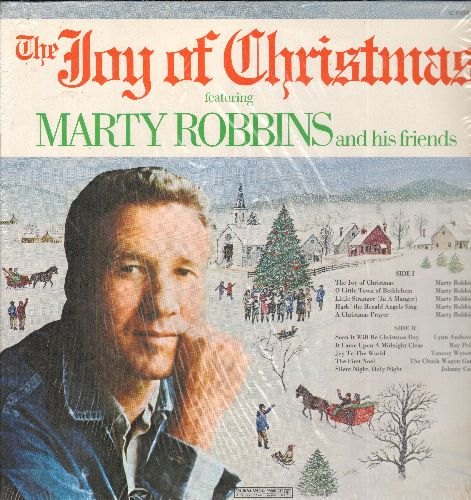 Robbins, Marty & His Friends - The Joy Of Christmas: O Little Town Of Bethlehem, Joy To The World, The First Noel, Silent Night (vinyl STEREO LP record) - EX8/NM9 - LP Records