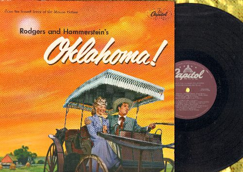 Oklahoma! - Oklahoma! - Original Motion Picture Sound Track, includes title song, Oh What A Beautiful Morning, Surrey With A Fringe On Top, I Cain't Say No, All Er Nothin', more! (Vinyl STEREO LP record, gate-fold cover, purple label) - NM9/EX8 - LP Recor