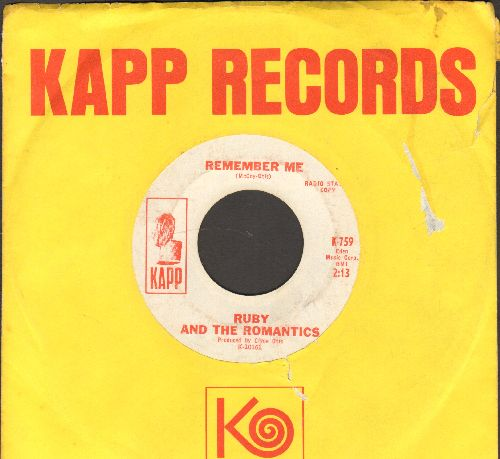 Ruby & The Romantics - We Can Make It/Remember Me (DJ advance pressing with Kapp company sleeve) - EX8/ - 45 rpm Records