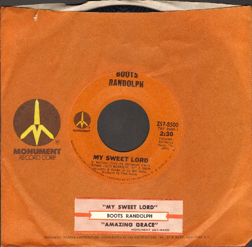 Randolph, Boots - My Sweet Lord/Amazing Grace (with Monument company sleeve) - NM9/ - 45 rpm Records