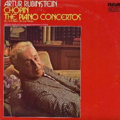 Rubinstein, Artur - Chopin - The Piano Concertos No. 1 in E Minor - No. 2 in F Minor and Andante Spianato and Grande Polinaise in E-Flat (2 vinyl LP record set in gate-fold cover, RED SEAL Series) - NM9/NM9 - LP Records