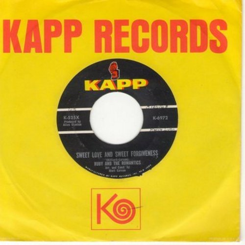 Ruby & The Romantics - Sweet Love And Sweet Forgiveness/My Summer Love (with Kapp company sleeve) - NM9/ - 45 rpm Records