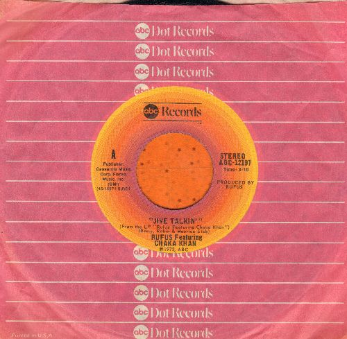 Rufus (Featuring Chaka Khan) - Jive Talkin'/On Time (with ABC company sleeve) - EX8/ - 45 rpm Records