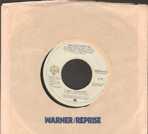 Ruffin, David - I get Excited/Chain On The Brain (with Warner Brothers company sleeve) - NM9/ - 45 rpm Records