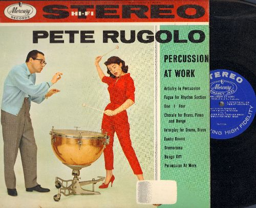 Rugolo, Pete - Percussion At Work: Artistry In Percussion, Funky Drums, Drumerama, Bongo Riff (vinyl STEREO LP record) - EX8/EX8 - LP Records