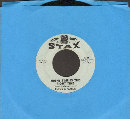 Rufus & Carla - Night Time Is The Right Time/That's Really Some Good - EX8/ - 45 rpm Records