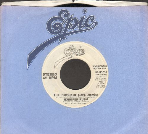 Rush, Jennifer - The Power Of Love (I'm Your Lady, And You Are My Man) (double-A-sided DJ advance pressing with company sleeve) - NM9/ - 45 rpm Records