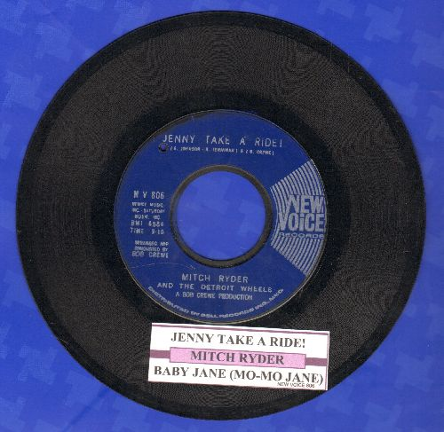 Ryder, Mitch & The Detroit Wheels - Jenny Take A Ride!/Baby Jane (Mo-Mo Jane) (blue label first pressing with juke box label)(bb) - EX8/ - 45 rpm Records