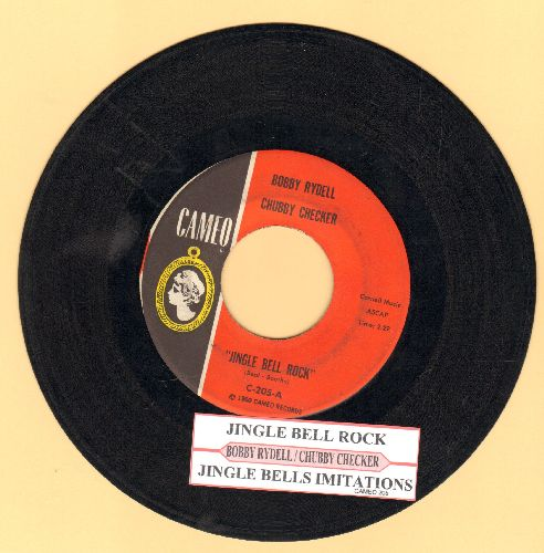 Rydell, Bobby & Chubby Checker - Jingle Bell Rock/Jingle Bells Imitations (with juke box label) - VG7/ - 45 rpm Records