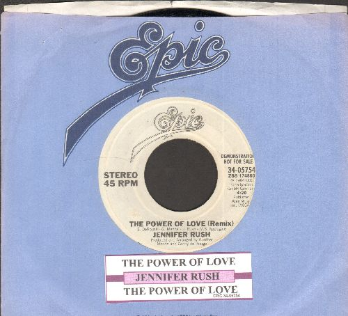 Rush, Jennifer - The Power Of Love (I'm Your Lady, And You Are My Man) (double-A-sided DJ advance pressing with juke box label and company sleeve) - NM9/ - 45 rpm Records