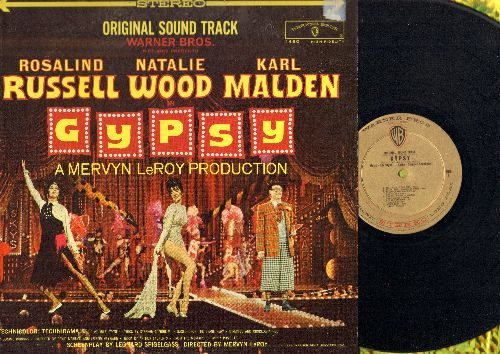 Gypsy - Gypsy: Original Motion Picture Sound Track - Includes songs Some People, If Mama Was Married, Everything's Coming Up Roses, Let Me Entertain You (Vinyl STEREO LP record) - NM9/NM9 - LP Records