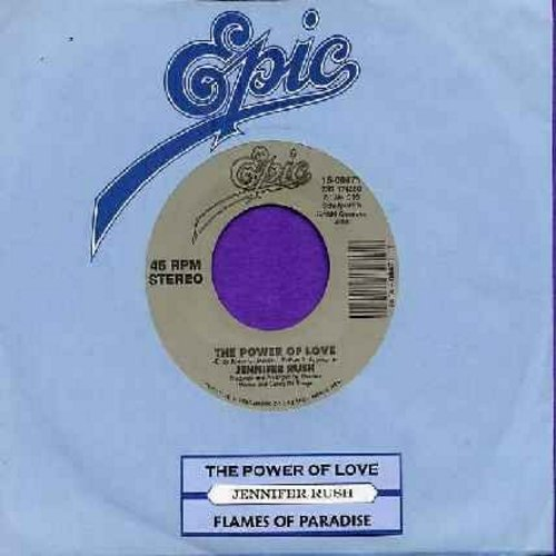 Rush, Jennifer - The Power Of Love/Flames Of Paradise (Duet with Elton John) (re-issue with juke box label!) - NM9/ - 45 rpm Records