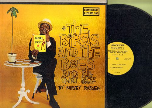 Russell, Nipsey - The Birds And The Bees And All That Jazz - Hilarious -Borderline- Comedy Routines by the legendary 1960s Comedy Genius (Vinyl MONO LP record) - NM9/NM9 - LP Records