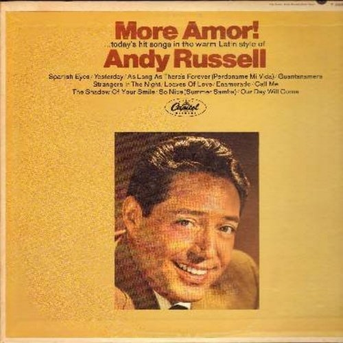 Russell, Andy - More Amor!: Spanish Eyes, Yesterday, Starngers In The Night, Our Day Will Come, So Nice (Summer Samba), Guantanamera (Vinyl MONO LP record) - NM9/EX8 - LP Records