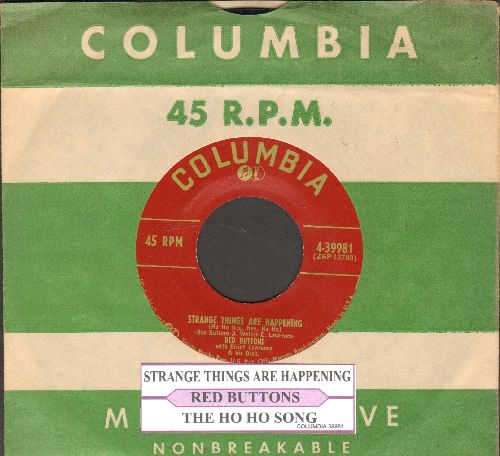 Buttons, Red - Strange Things Are Happening/The Ho Ho Song (burgundy label first issue with vintage Columbia company sleeve and juke box label) - EX8/ - 45 rpm Records