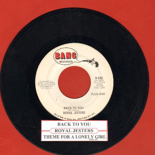 Royal Jesters - Back To You/Theme For A Lonely Girl (DJ advance pressing with juke box label) - NM9/ - 45 rpm Records