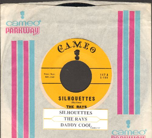 Rays - Silhouettes/Daddy Cool (yellow label with RARE Cameo company sleeve and juke box label) - NM9/ - 45 rpm Records