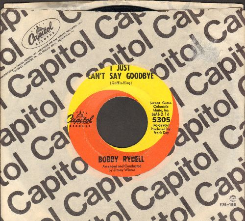 Rydell, Bobby - I Just Can't Say Goodbye/Two Is The Loneliest Number (with Capitol company sleeve) - EX8/ - 45 rpm Records