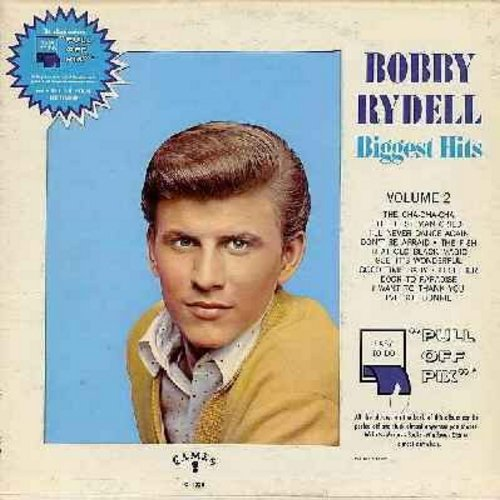 Rydell, Bobby - Biggest Hits Vol. 2: The Cha-Cha-Cha, The Fish, That Old Black Magic, I've Got Bonnie, I'll Never Dance Again, The Best Man Cried (Vinyl MONO LP record, gate-fold cover, no bonus picture cards) - EX8/VG6 - LP Records