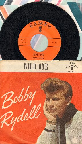 Rydell, Bobby - Wild One/Little Bitty Girl (orange label first issue with picture sleeve, heavy wos) - EX8/VG7 - 45 rpm Records