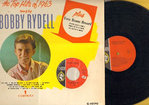Rydell, Bobby - The Top Hits of 1963: So Much In Love, Go Away Little Girl, Our Day Will Come, If I Had A Hammer, I Will Follow Her, Ruby Baby, Blue Velvet (Vinyl LP record - WITH BONUS 45!) - EX8/EX8 - LP Records