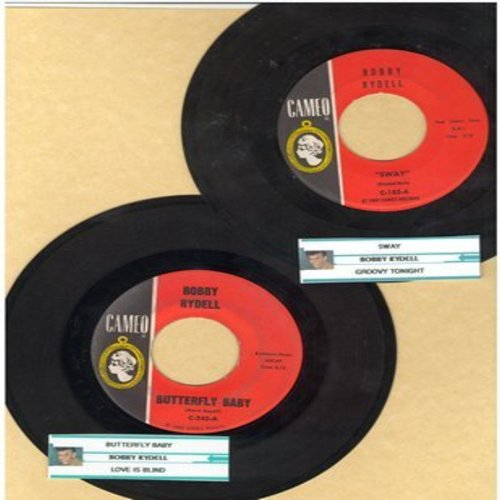 Rydell, Bobby - 2 for 1 Special: Sway/Butterfly Baby (2 vintage first issue 45rpm records with juke box label for the price of 1!) - EX8/ - 45 rpm Records