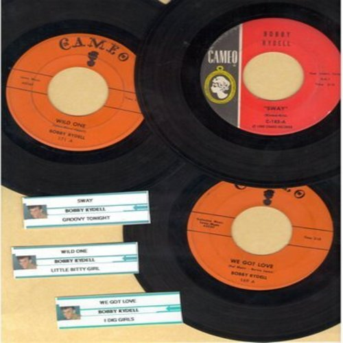 Rydell, Bobby - Bobby Rydell Vintage 3-Pack: First issue hits include Wild One, We Got Love and Sway, all in very good or better condition, with customized  juke box label. NICE set for a fan of the Teen Idol! - VG7/ - 45 rpm Records