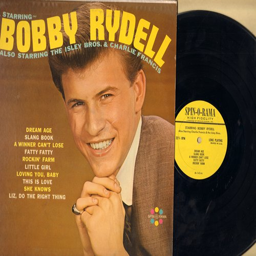 Rydell, Bobby - Starring Bobby Rydell - Also Starring The Isley Brothers & Charlie Francis: Dream Age, Fatty Fatty, This Is Love, Slang Book, Rockin' Farm, Little Girl (Vinyl MONO LP record) - NM9/EX8 - LP Records