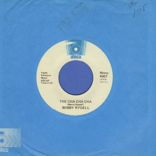 Rydell, Bobby - The Cha Cha Cha/Wildwood Days (early double-hit re-issue with Abkco company sleeve) - NM9/ - 45 rpm Records