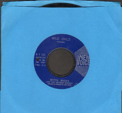 Ryder, Mitch & The Detroit Wheels - Wild Child/You Are My Sunshine (bb) - EX8/ - 45 rpm Records