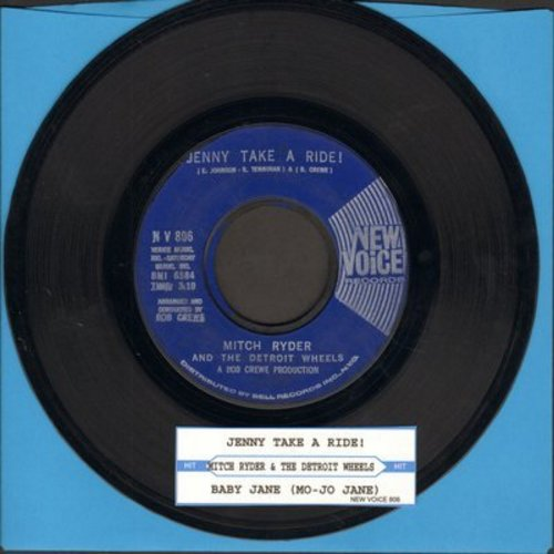 Ryder, Mitch & The Detroit Wheels - Jenny Take A Ride!/Baby Jane (Mo-Mo Jane) (blue label first pressing with juke box label) - VG7/ - 45 rpm Records