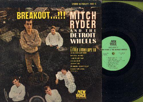 Ryder, Mitch & The Detroit Wheels - Breakout…!!!: Little Latin Lupe Lu, In The Midnight Hour, I Like It Like That, Any Day Now, Oo Papa Doo, Shakin' With Linda (Vinyl MONO LP record) - EX8/VG7 - LP Records