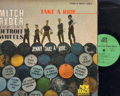 Ryder, Mitch & The Detroit Wheels - Take A Ride….:Shake A Tail feather, Come See About Me, Jenny Take A Ride, I Got You, Baby Jane (vinyl STEREO LP record, 1966 first pressing, tape on cover) - VG7/VG6 - LP Records