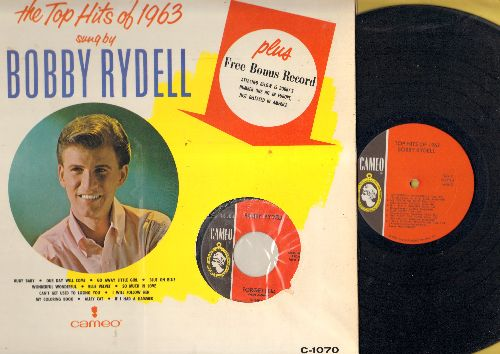 Rydell, Bobby - The Top Hits of 1963: So Much In Love, Go Away Little Girl, Our Day Will Come, Blue On Blue, If I Had A Hammer, I Will Follow Her, The Alley Cat Song, Ruby Baby, Blue Velvet (Vinyl LP record - WITH BONUS 45!) - NM9/EX8 - LP Records
