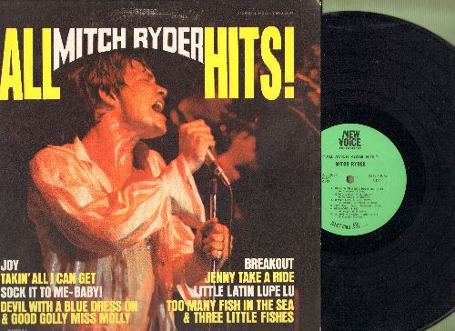Ryder, Mitch - All Mitch Ryder Hits: Sock It To-Me!, Jenny Take A Ride, Too Many Fishes In The Sea & Three Little Fishes, Devil With A Blue Dress On & Good Golly Miss Molly (Vinyl STEREO LP record) - NM9/EX8 - LP Records