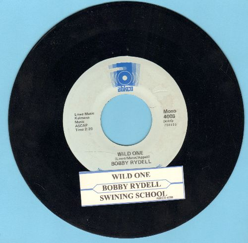 Rydell, Bobby - Wild One/Swinging School (double-hit re-issue with juke box label) - NM9/ - 45 rpm Records