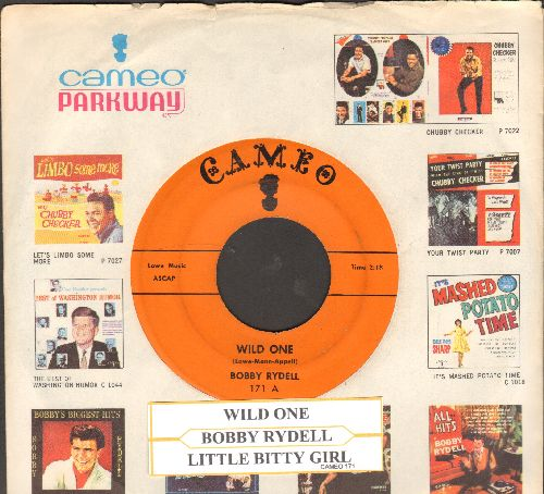 Rydell, Bobby - Wild One/Little Bitty Girl (orange label first issue with juke box label and RARE vintage Cameo company sleeve) - EX8/ - 45 rpm Records