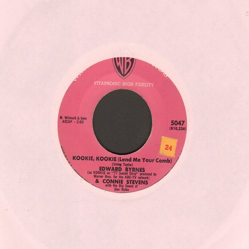Byrnes, Edd & Connie Stevens - Kookie, Kookie, Lend Me Your Comb/You're The Top (pink label first issue) - EX8/ - 45 rpm Records