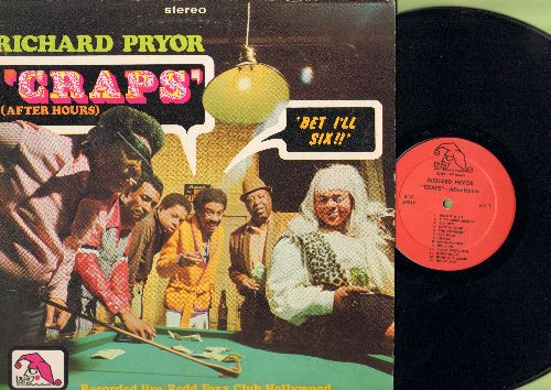 Pryor, Richard - Craps (After Hours) - Recorded LIVE at Redd Foxx Club in Hollywood (Vinyl LP record) - NM9/EX8 - LP Records