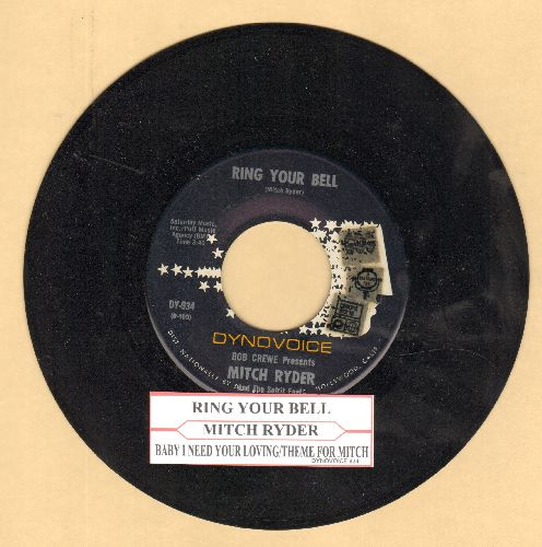 Ryder, Mitch - Ring Your Bell/Baby I Need Your Loving and Theme For Mitch (with juke box label) - NM9/ - 45 rpm Records